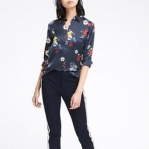 banana republic dillon classic fit floral shirt XS